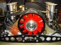 Porsche 911 RSR Motor mit Gasgestänge