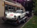 Porsche 911 Transport und Rennbetreuung