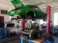 Porsche 911 RSR Motoreinbau